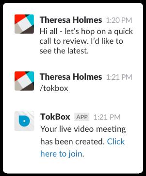 Slack | TokBox